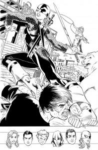Tavola in anteprima dei Teen Titans disegnati da Nicola Scott