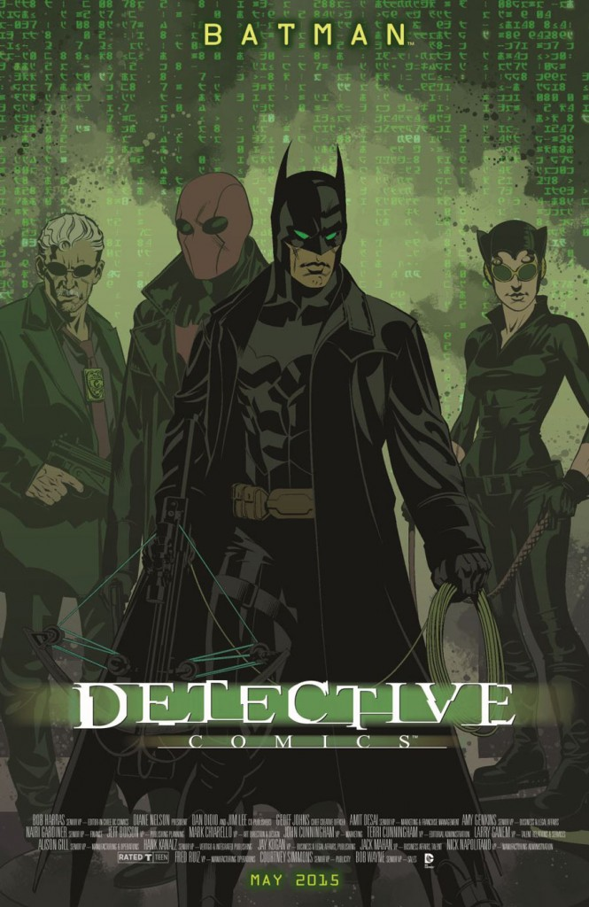 DETECTIVE COMICS #40 inspired by THE MATRIX, with cover art by Brian Stelfreeze