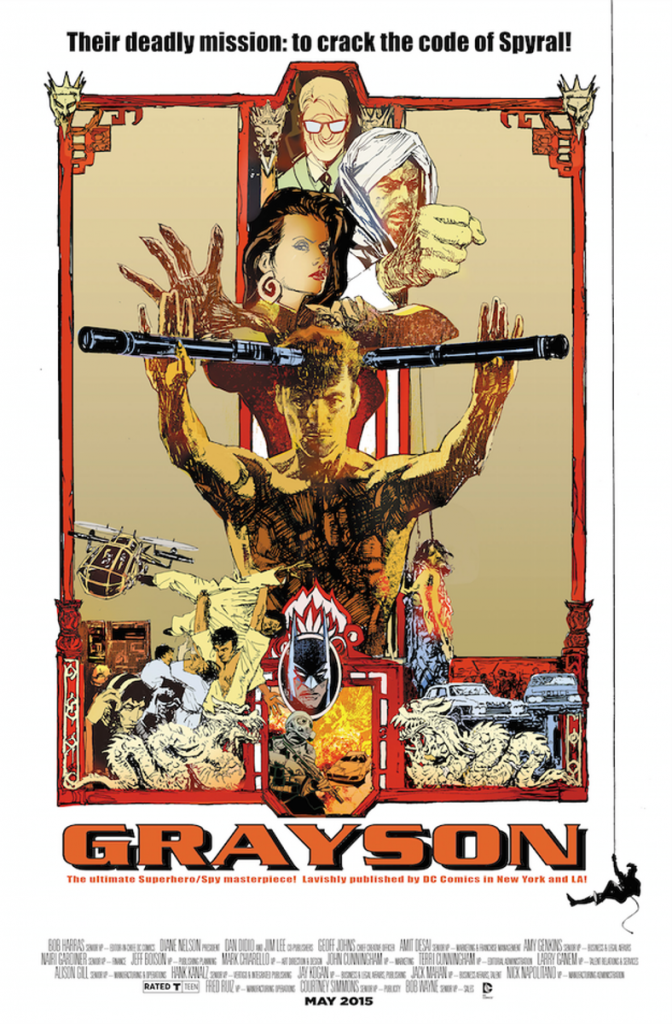 GRAYSON #8 inspired by ENTER THE DRAGON, with cover art by Bill Sienkiewicz