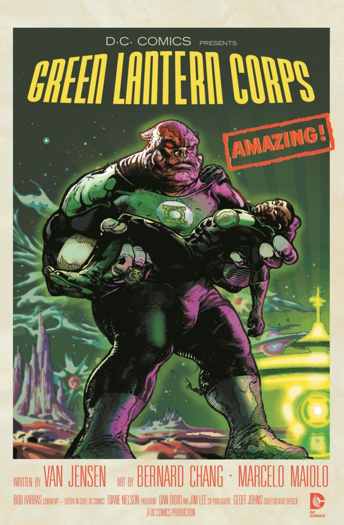 GREEN LANTERN CORPS #40 inspired by FORBIDDEN PLANET, with cover cover art by Tony Harris