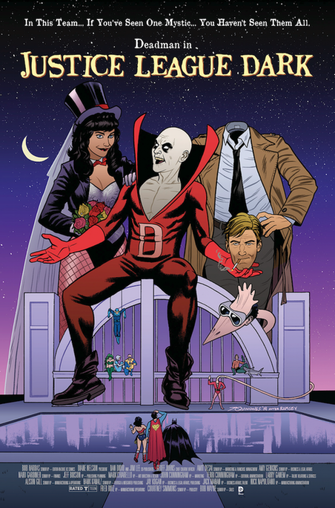 JUSTICE LEAGUE DARK #40 inspired by BEETLEJUICE, with cover art by Joe Quinones