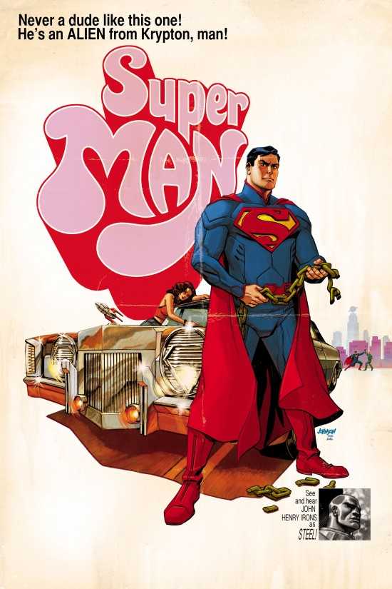 SUPERMAN #40 inspired by SUPER FLY, with cover art by Dave Johnson