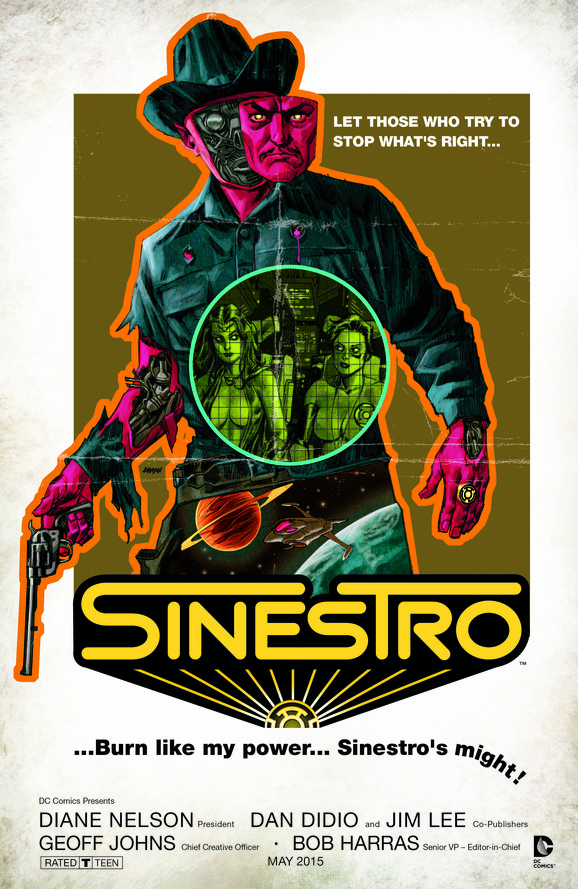 SINESTRO #11 inspired by WESTWORLD, with cover art by Dave Johnson