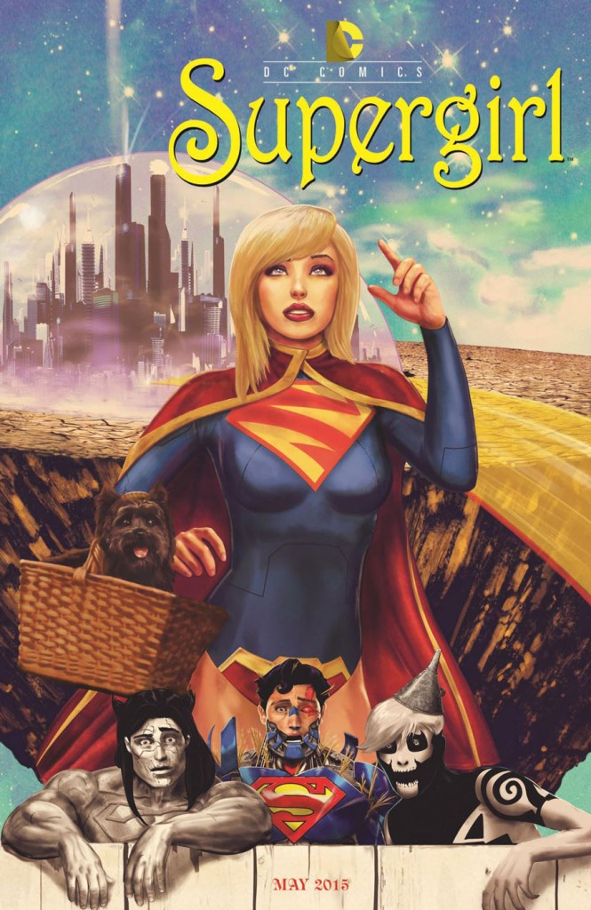SUPERGIRL #40 inspired by WIZARD OF OZ, with cover art by Marco D'Alphonso