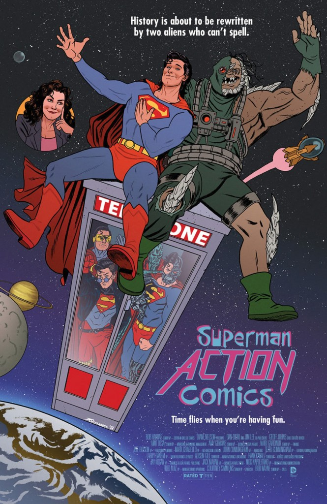 ACTION COMICS #40 inspired by BILL & TED'S EXCELLENT ADVENTURE, with cover art by Joe Quinones