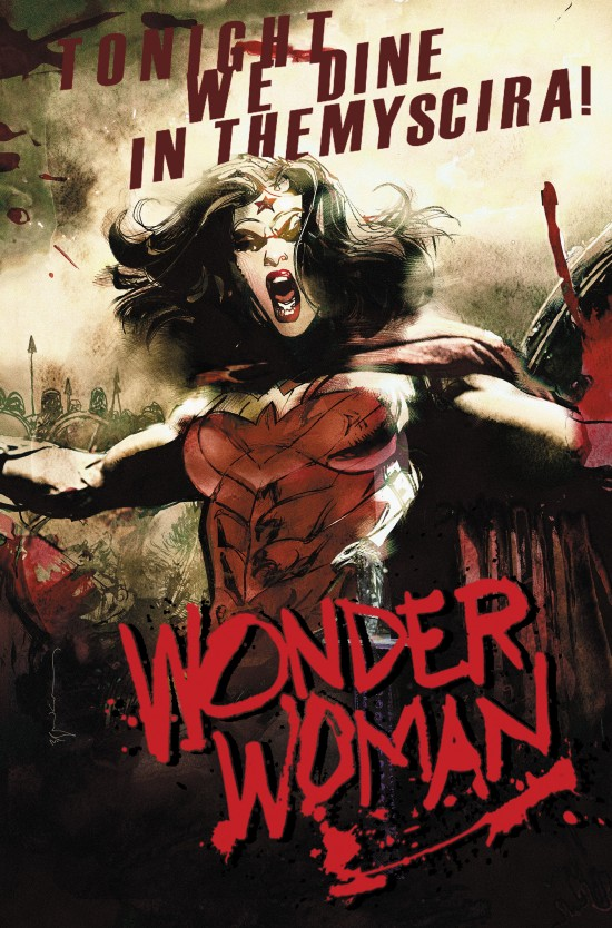 WONDER WOMAN #40 inspired by 300, with cover art by Bill Sienkiewicz