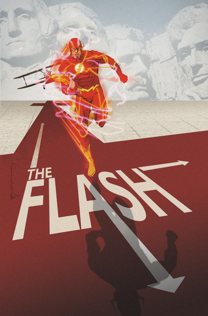 FLASH #40 inspired by NORTH BY NORTHWEST, with cover art by Bill Sienkiewicz