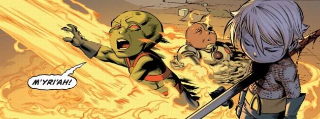 La morte di Martian Manhunter da Multiversity #6