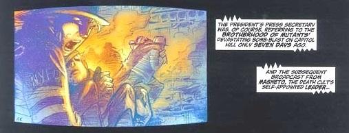 Il terribile attentato al Pentagono ad opera della Fratellanza dei Mutanti