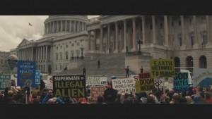 Superman proteste senato