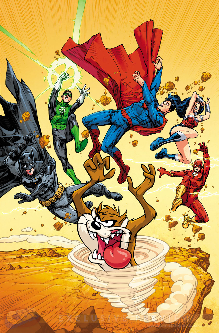 """JLA"" #6 by Howard Porter & HI-FI and Warner Bros. Animation"