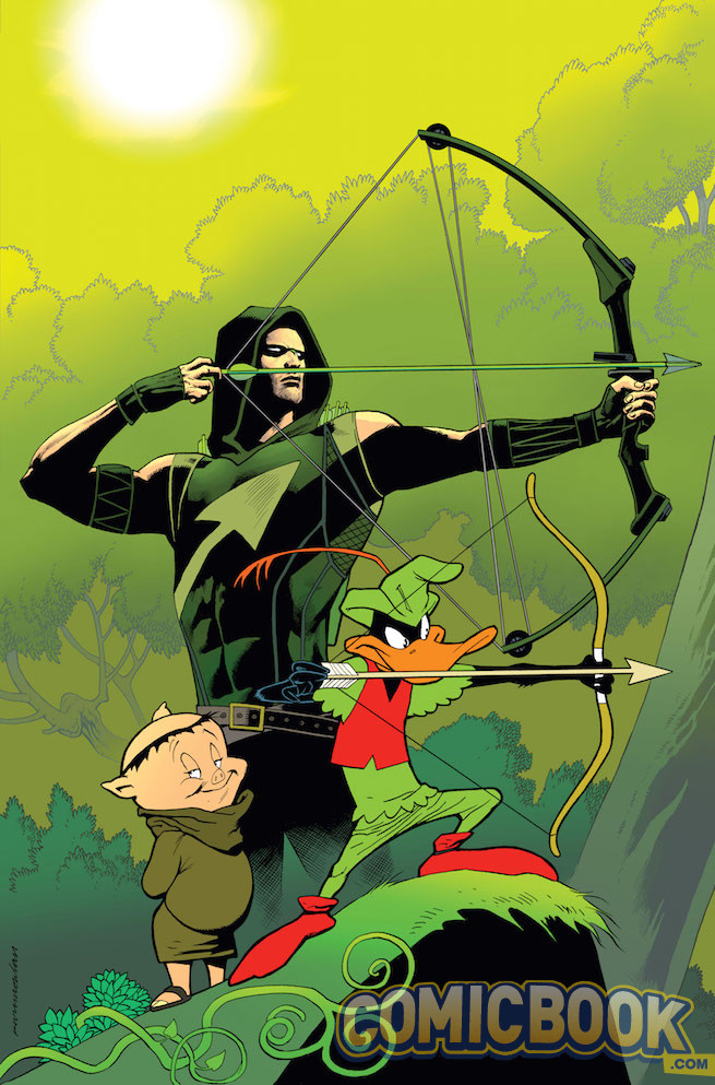 Green Arrow #46 by Kevin Nowlan and Warner Bros. Animation