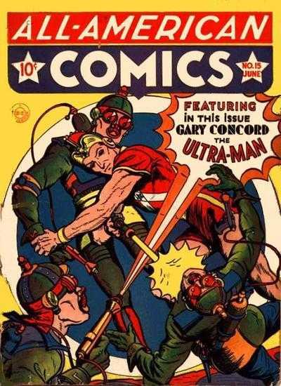 Gary Concord senior L'Ultra-Man su una copertina di All-American Comics