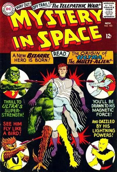 Ace Arn, ovvero Ultra il Multi-Alieno. La copertina del suo esordio.